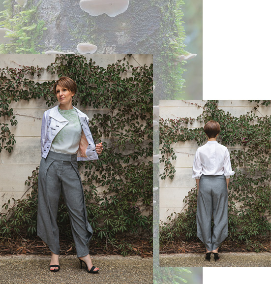 Charcoal Birch Trouser from the Mycelium Collection