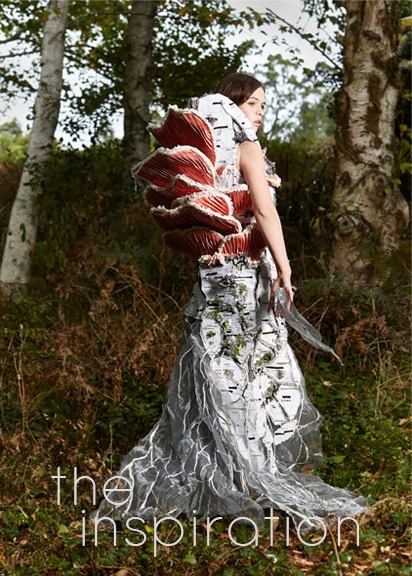 Mycelium Art Couture Dress