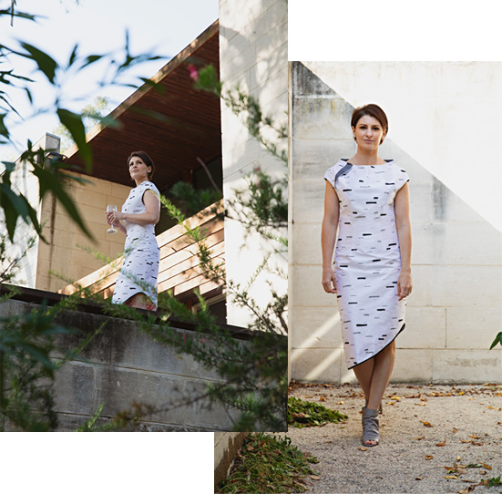 Silver Birch Dress from the Mycelium Collection