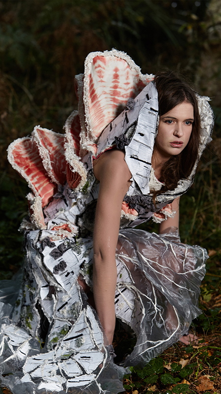 Mycelium Dress by Tarmi. Artist, Designer, Fashion Artist