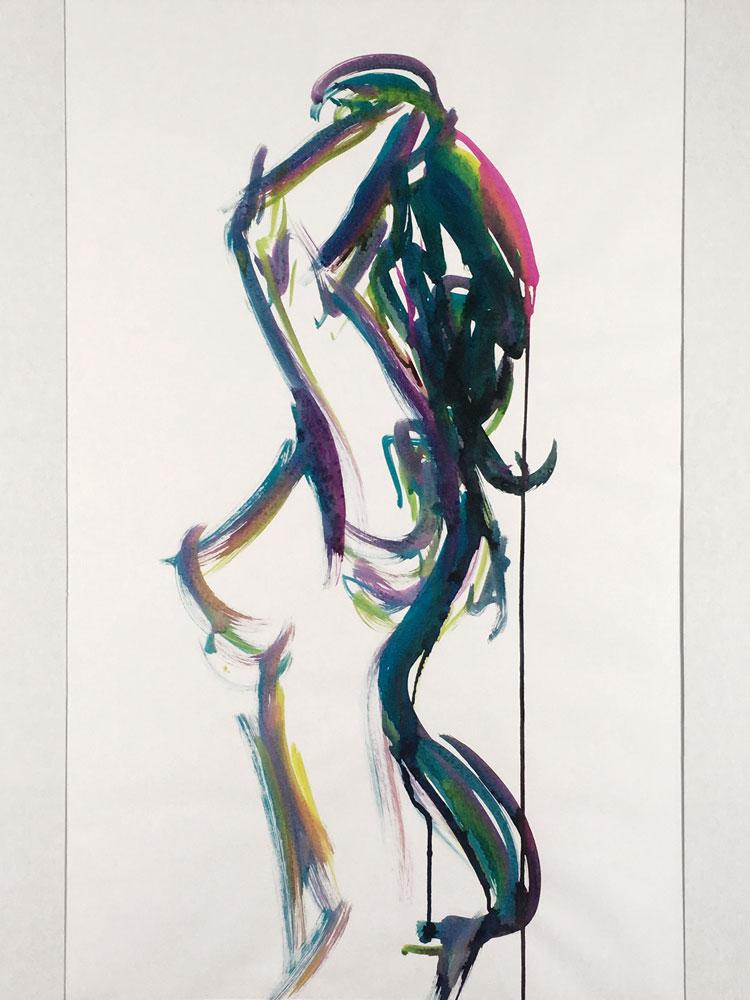 A Notion Figure Painting By Tarmi, Artist, Designer Fashion Artist