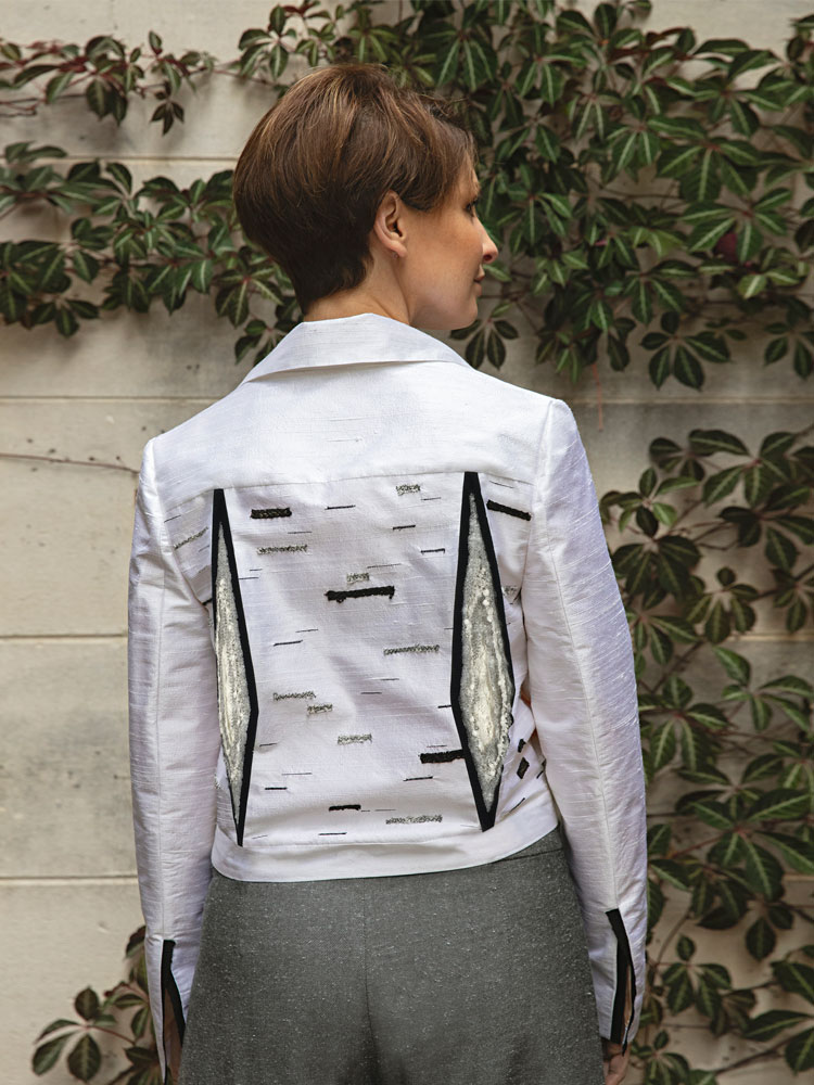 Silver Birch Biker Jacket Back View