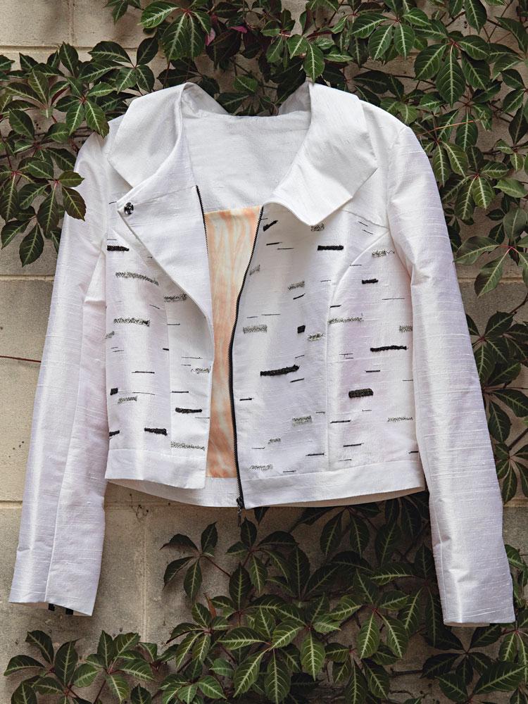 Silver Birch Biker Jacket hanging