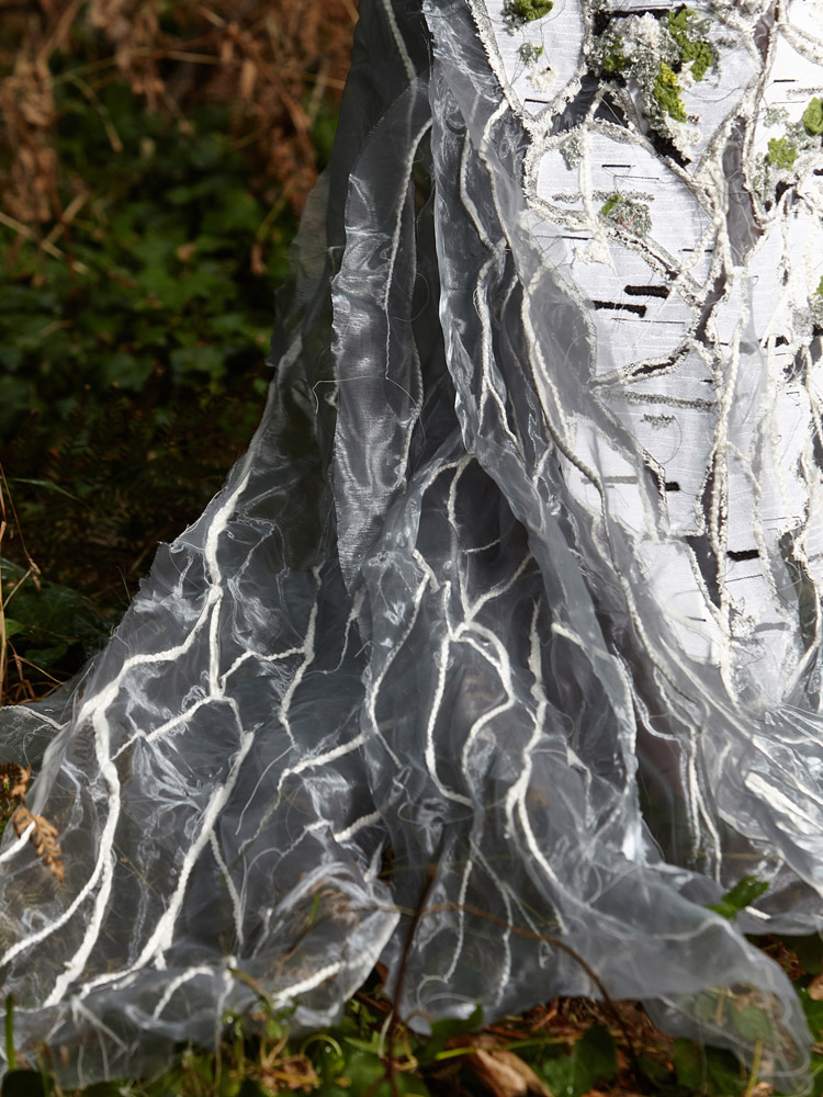 MYCELIUM Art Couture Dress By Tarmi -Mycelium Detail