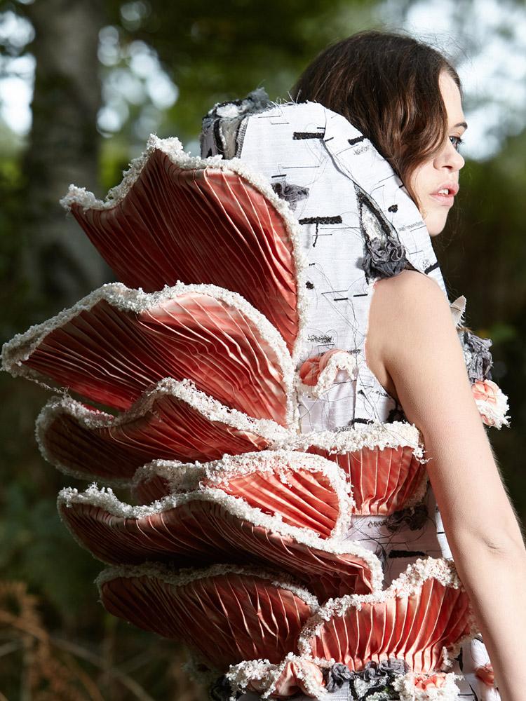 MYCELIUM Art Couture Dress By Tarmi -Fungus Detail