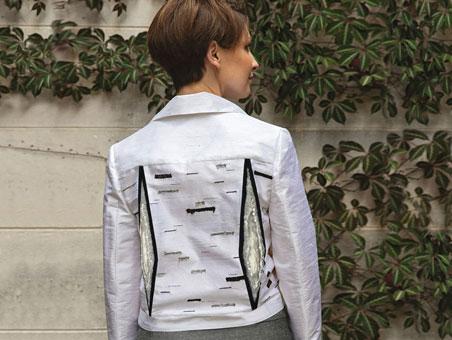 Silver Birch Biker Jacket back view