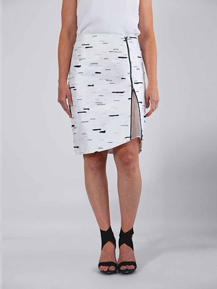 Silver Birch Stride Skirt By Tarmi - Artist, Designer And Fashion Artist