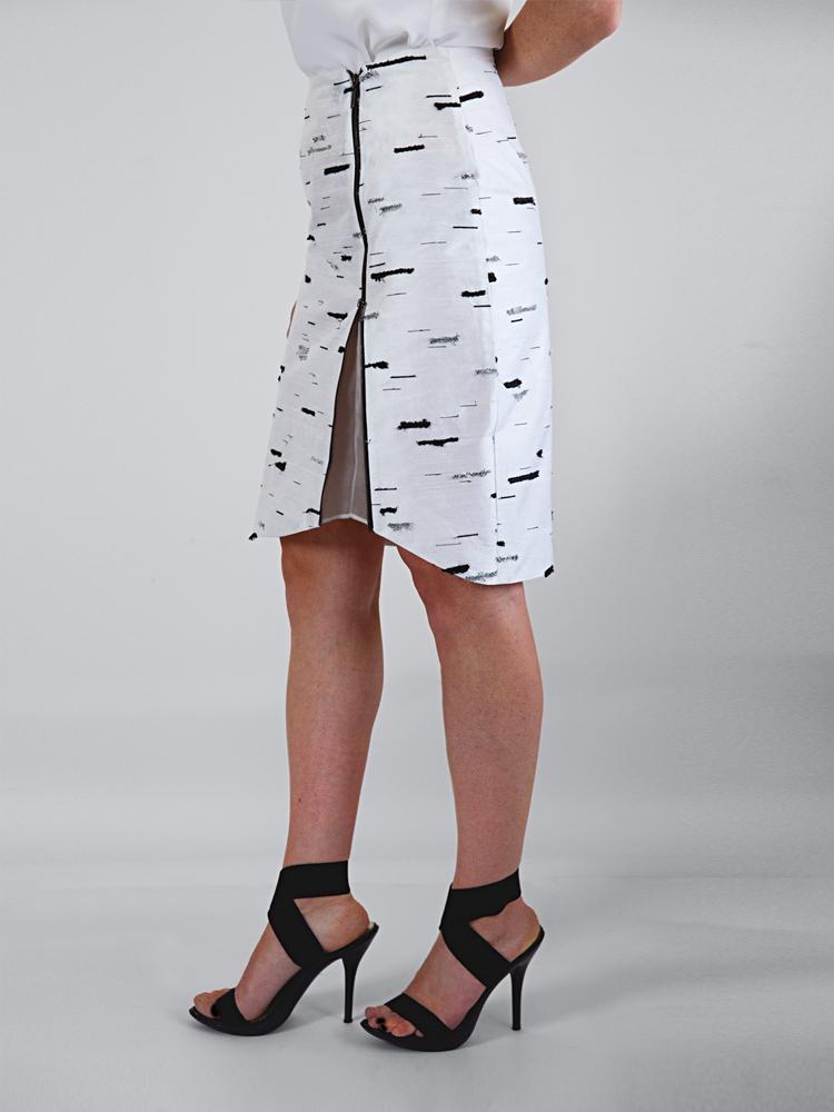 Silver Birch Stride Skirt by Tarmi - Artist, Designer and Fashion Artist