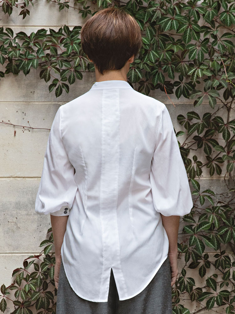 Puff Sleeve Shirt back view