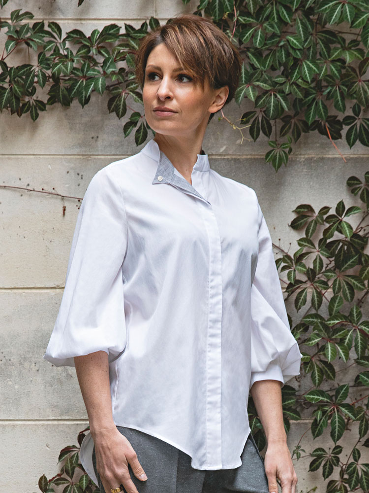 Puff Sleeve Shirt front view