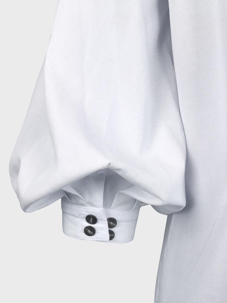Puff Sleeve Shirt adjustable sleeve buttons