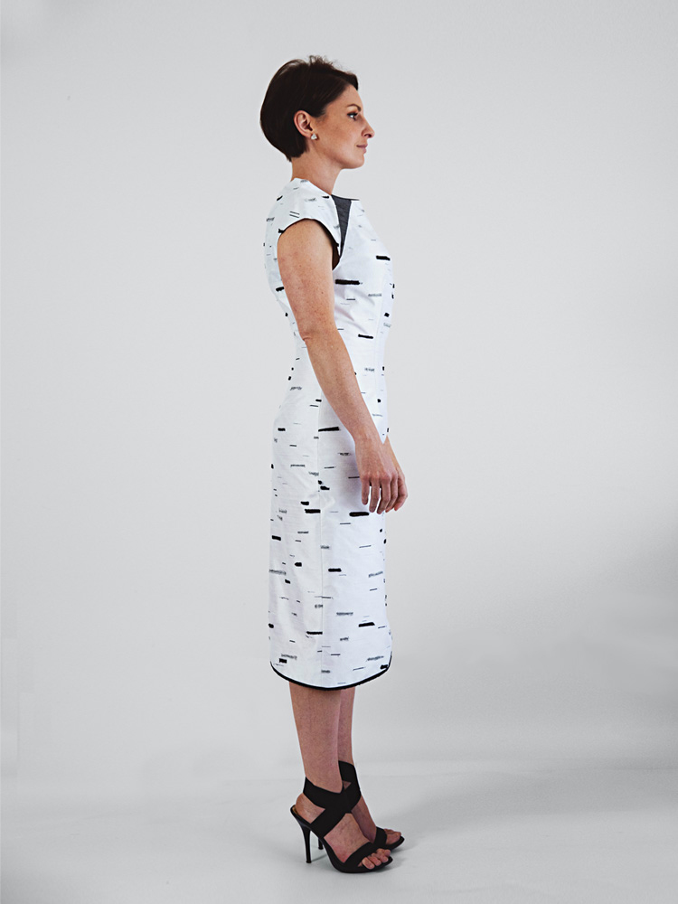 Silver Birch Dress by Tarmi - Artist, Designer and Fashion Artist