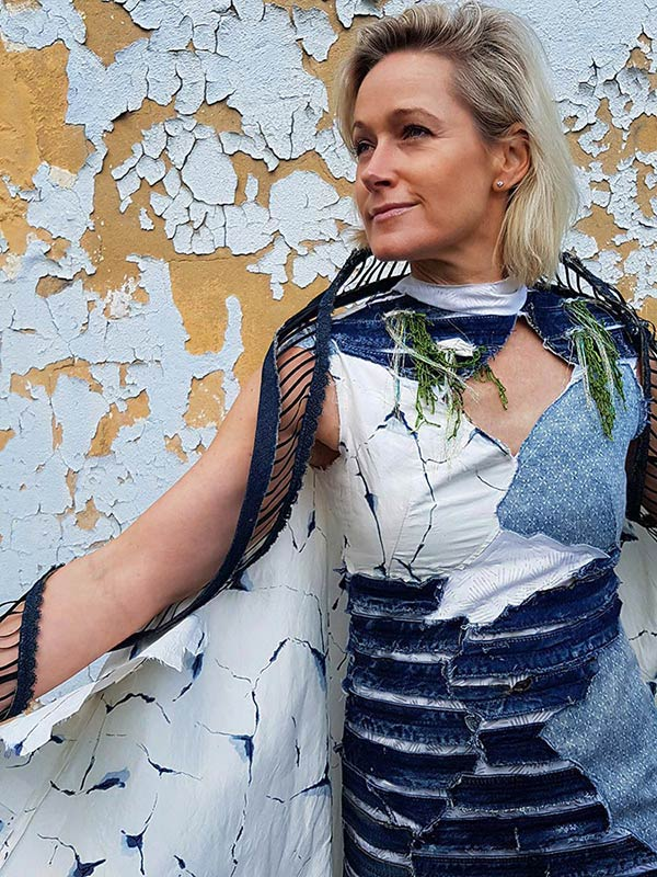 Tarmi Clarke, Cracked Plaster Wall Dress