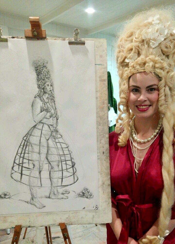 Marie Antoinette Figure Drawing by Tarmi Clarke