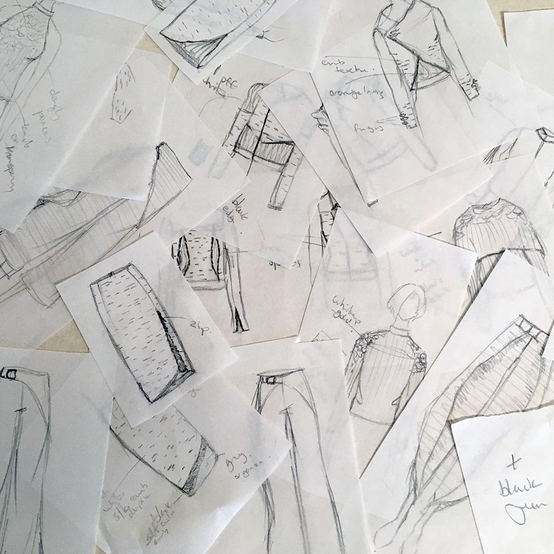 Tarmi Clarke Mycelium collection sketches - design ideas